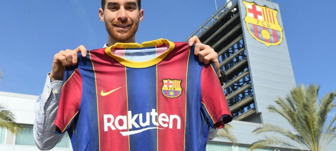 Roger Riera como jugador oficial del Barcelona B. /FCBARCELONA