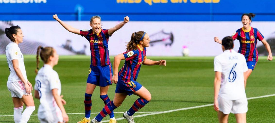 El Barça festejando el primer gol del partido. / FCBARCELONA