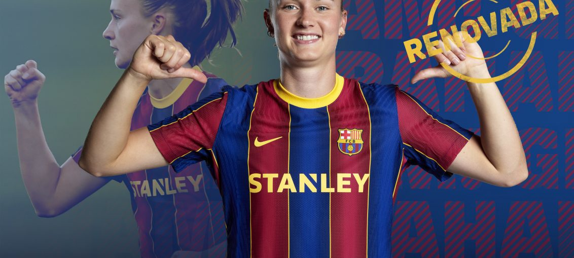 Caroline Graham Hansen has renewed her contract / FC BARCELONA