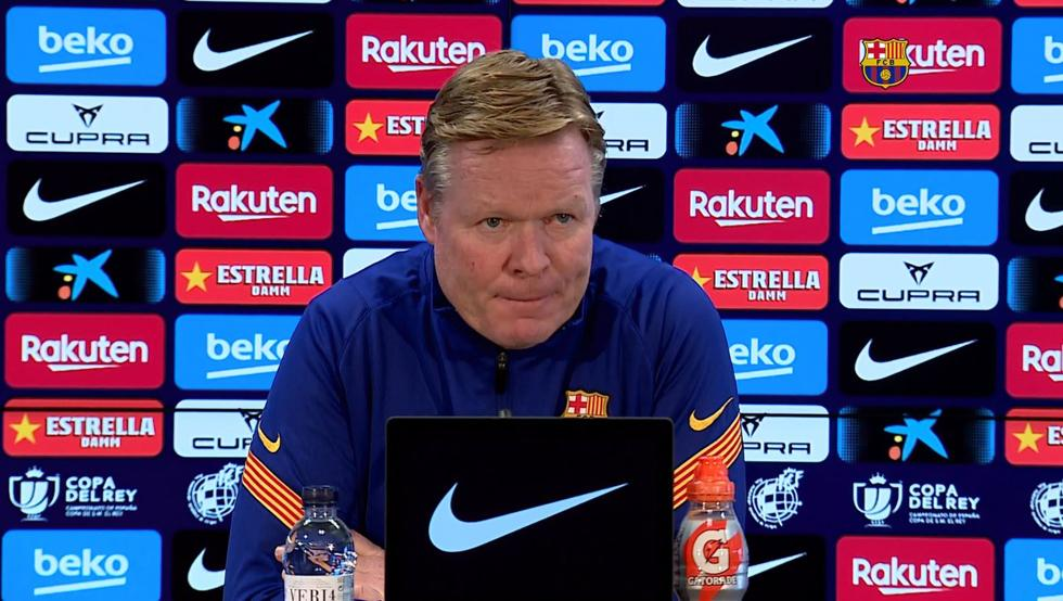 Ronald Koeman at the press conference / Mundo Deportivo