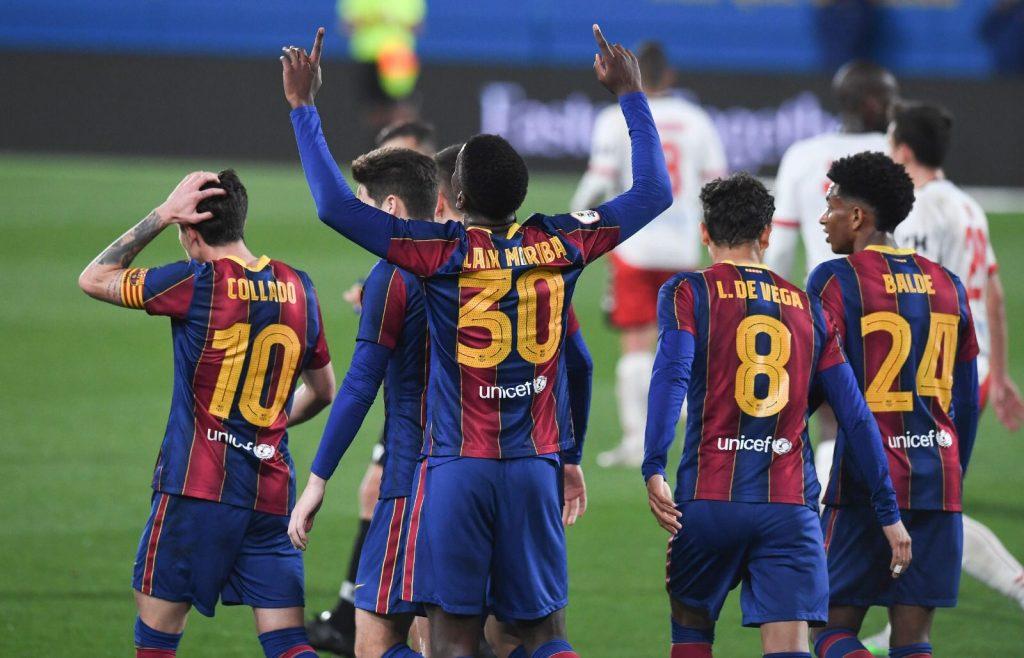 El equipo realizó una exhibición de fútbol / FC Barcelona B en Twitter