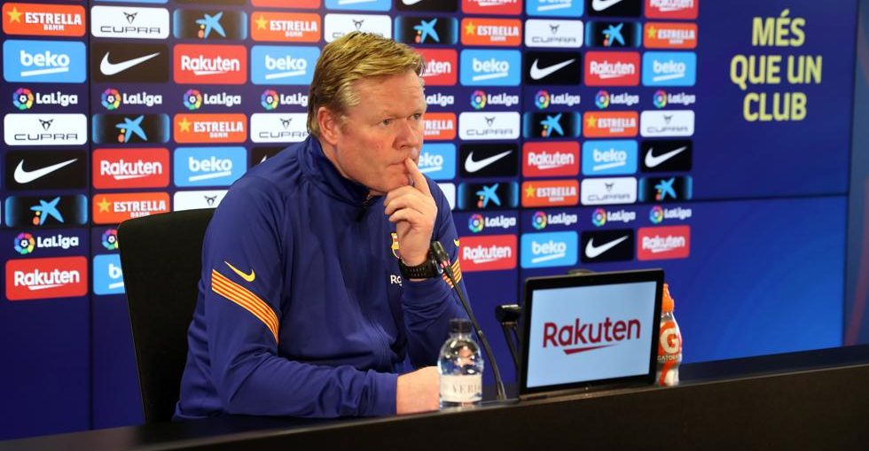 Koeman at the press conference / Miguel Ruiz
