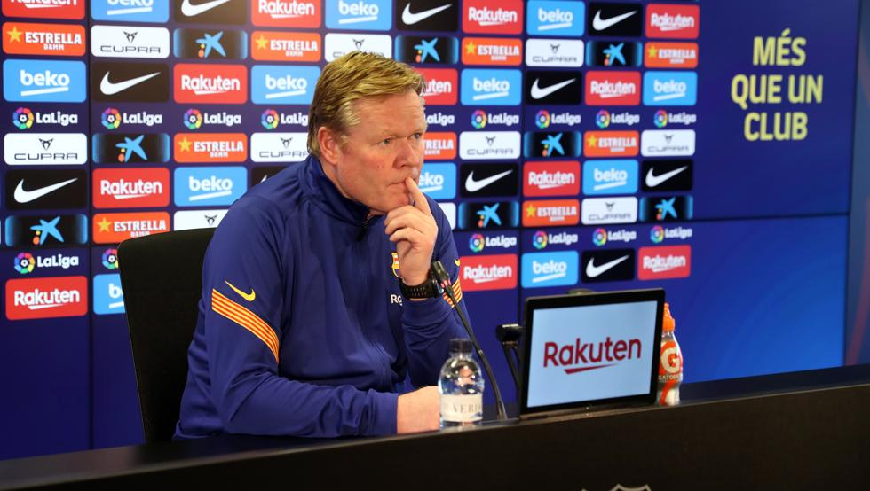 Koeman at the press conference / Miguel Ruiz