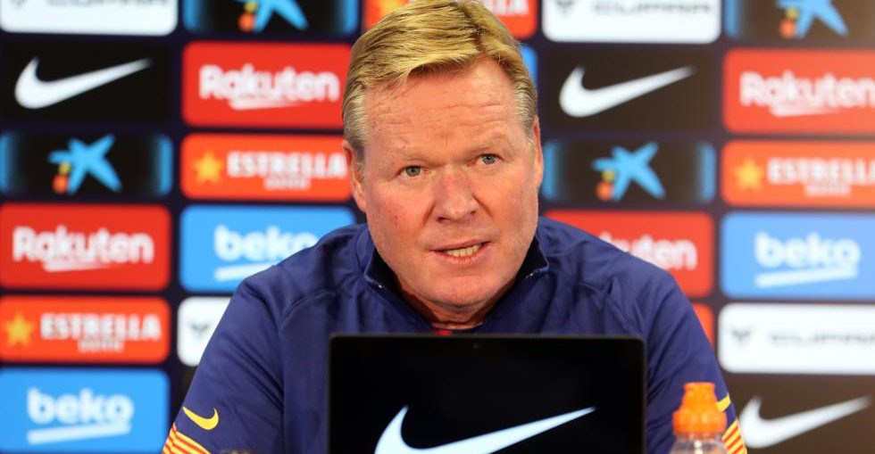 Ronald Koeman at the press room / Miguel Ruiz