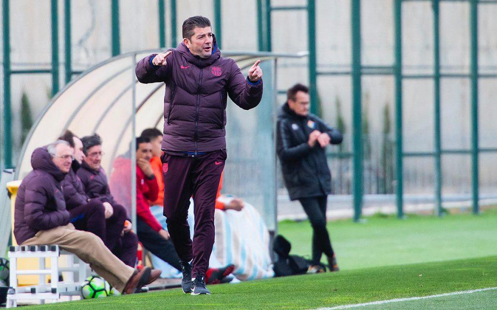 Franc Artiga ha dirigido al Juvenil A durante más de un año / FC Barcelona