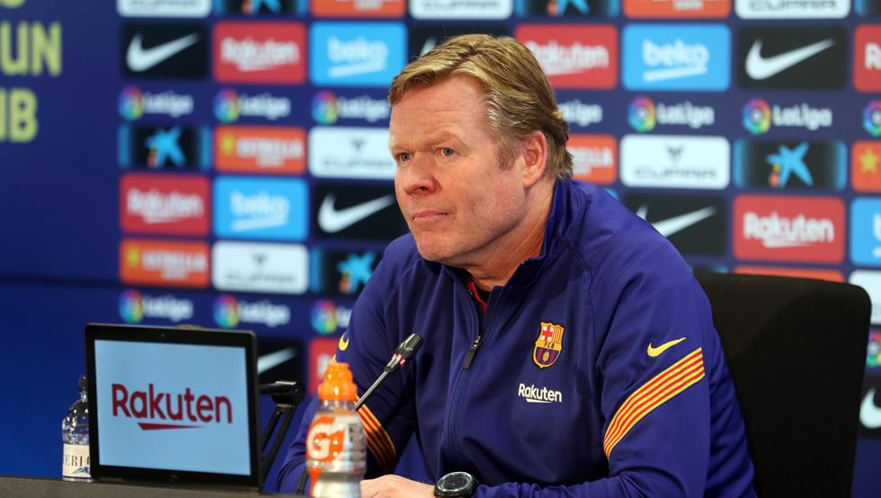 Koeman in today's press conference / Getty Images