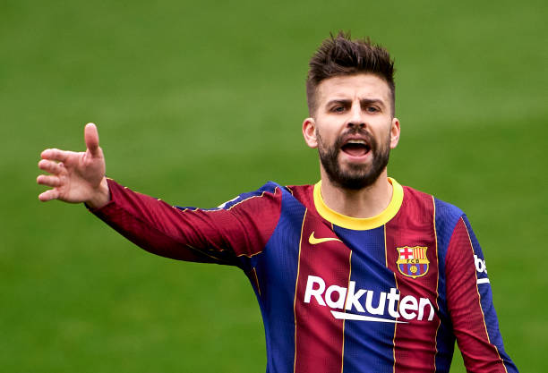 Gerard Pique during the match between FC Barcelona and Cadiz CF at Camp Nou. (Photo by Manuel Queimadelos/Quality Sport Images/Getty Images)