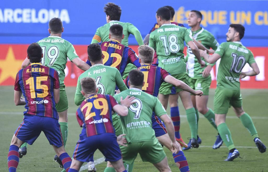 Cornellà defended fiercely to prevent Barça B from scoring / FC Barcelona B