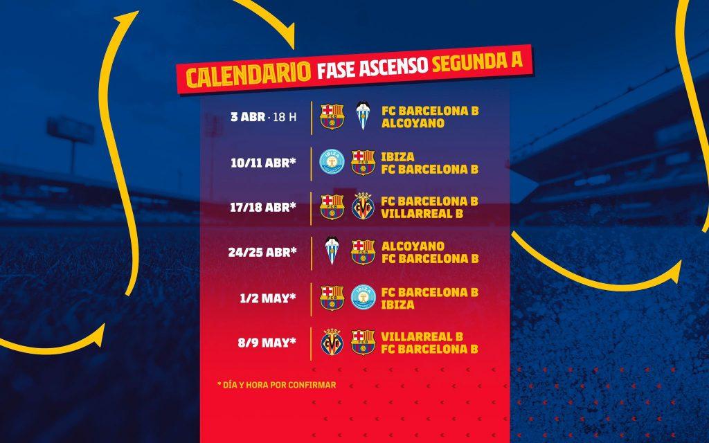 El Barça B jugará 6 partidos en la segunda fase / FC Barcelona B