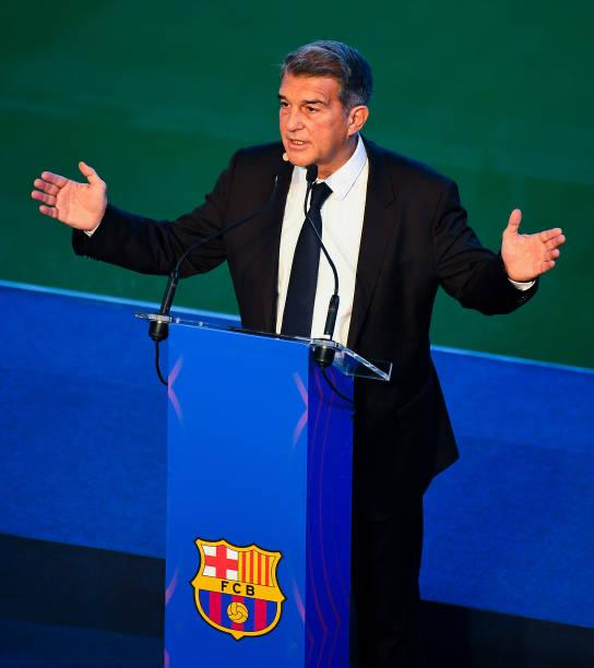 Laporta during inauguration ceremony/ David Ramos, GETTY IMAGES