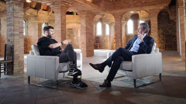 Piqué during the interview with the Universo Valdano program / Movistar +