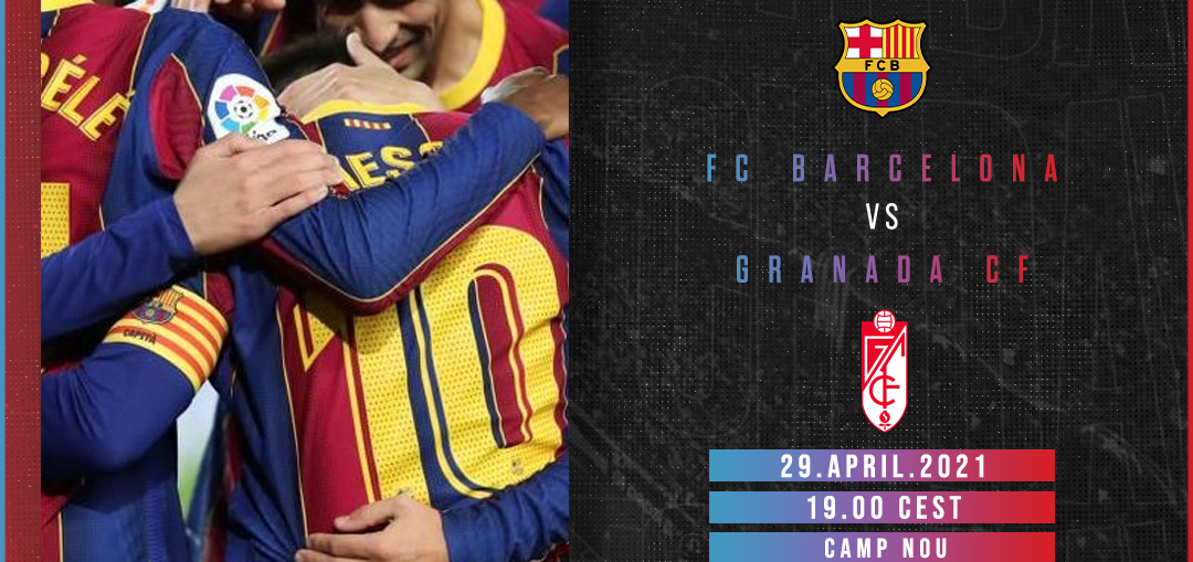 Matchday graphic for FC Barcelona vs Granada CF encounter on April 29 / BLAUGRANAGRAM