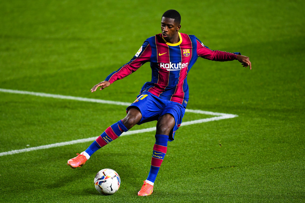 Ousmane Dembélé in action against SD Huesca / David Ramos / Getty Images Europe