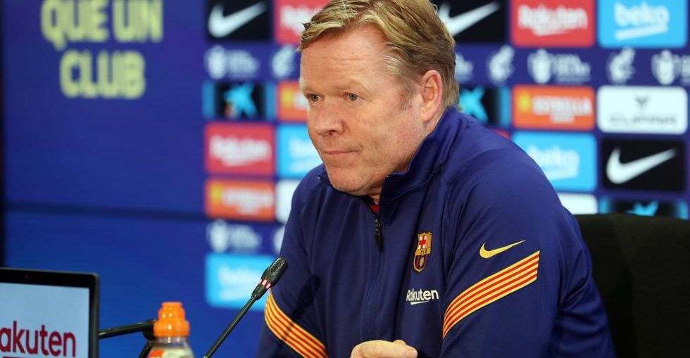 Ronald Koeman at the press room (Photo by Miguel Ruiz/FCB)