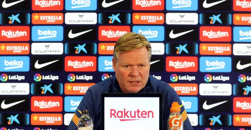 Ronald Koeman during the press conference / Miguel Ruiz FCB