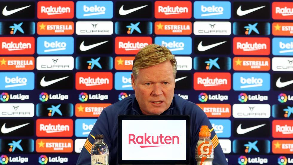 Ronald Koeman during the press conference / Miguel Ruiz FCB