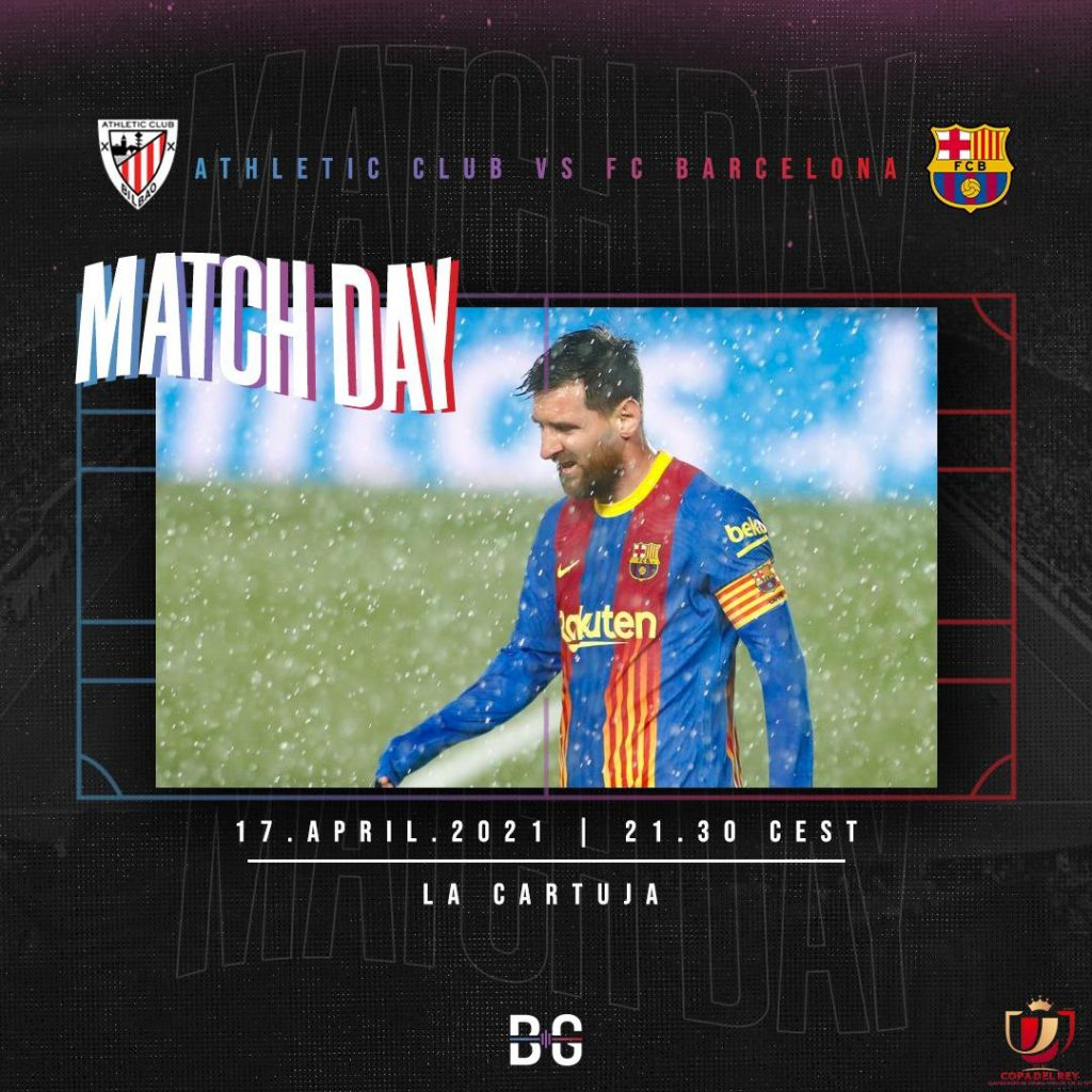 Matchday graphic for Athletic Club vs FC Barcelona encounter on April 17 / BLAUGRANAGRAM