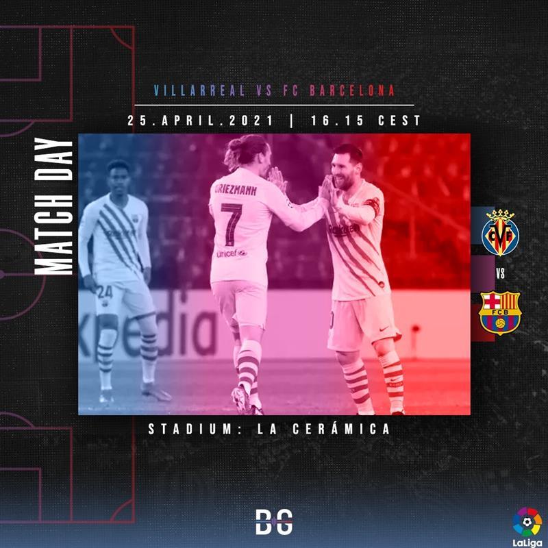 Villareal vs FC Barcelona matchday graphic / BLAUGRANAGRAM