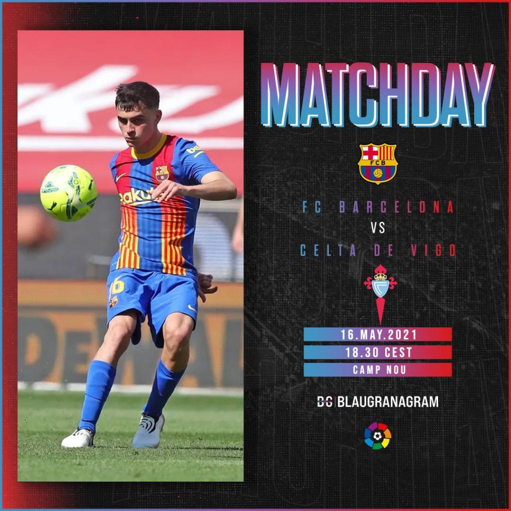 FC Barcelona vs Celta de Vigo matchday graphic / BLAUGRANAGRAM