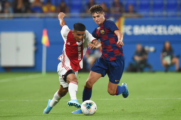 Mika Marmol at the Johan Cruyff stadium against Ajax Amsterdam in 2019 (Photo by Pressinphoto/Icon Sport via Getty Images)