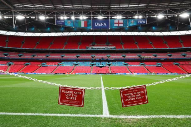 The stage is set for the final between Italy and England at Wembley - Eddie Keogh - FA