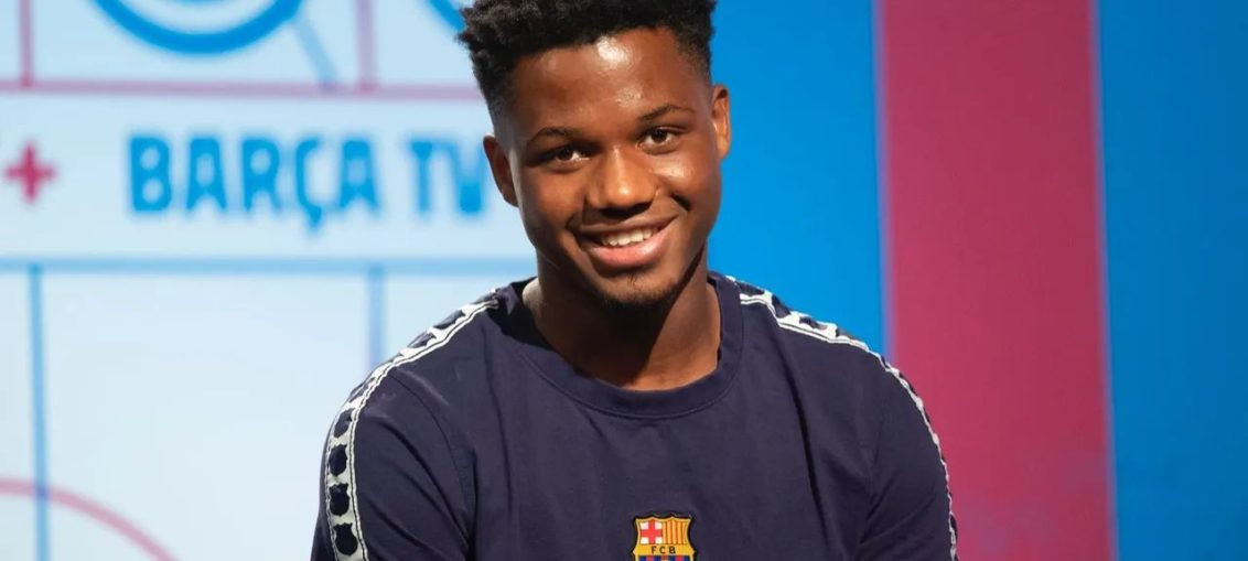Ansu Fati during an interview with Barça TV+ / FC BARCELONA