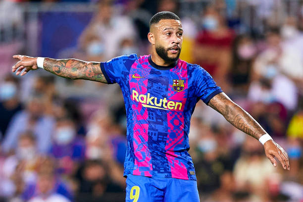 Memphis Depay during the UEFA Champions League match between FC Barcelona and Bayern München at Camp Nou (Photo by Pedro Salado/Quality Sport Images/Getty Images)