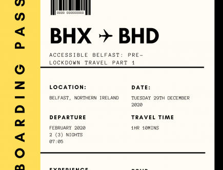 Fake boarding pass with details of the blog