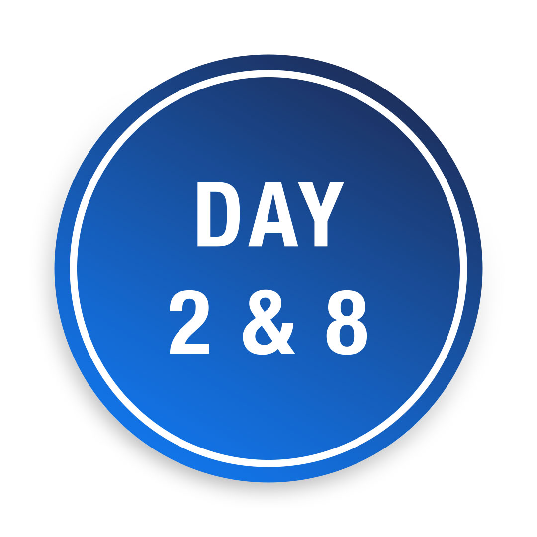 Covid-19<br>Day 2 & 8 Tests £160.00