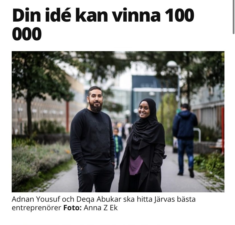 Adnan Yousuf & Deqa Abukar Mitt i Kista