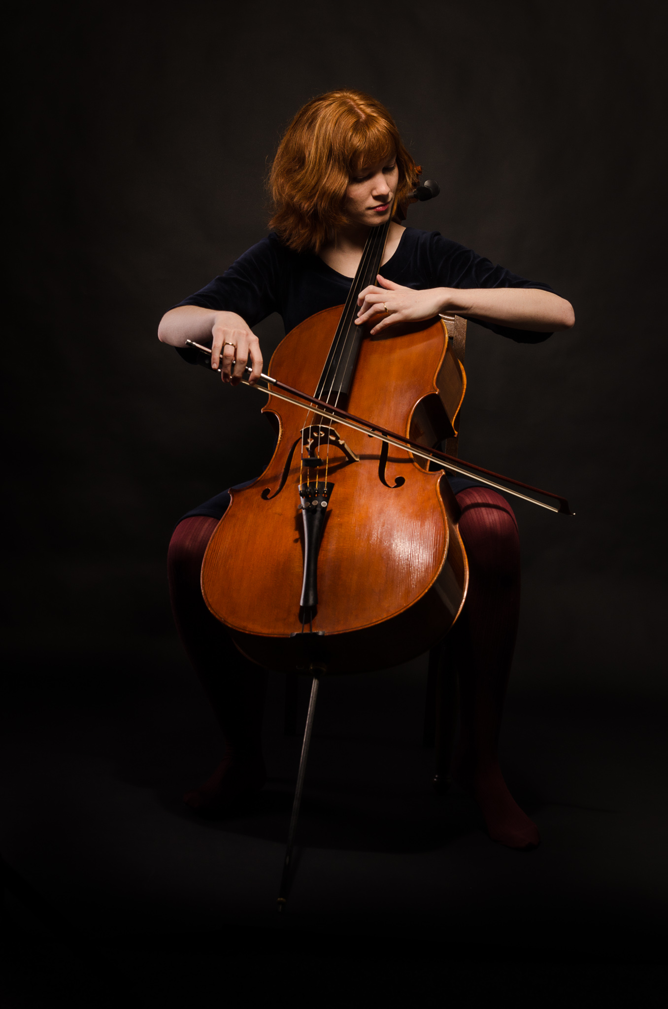 Cecillie playing her cello