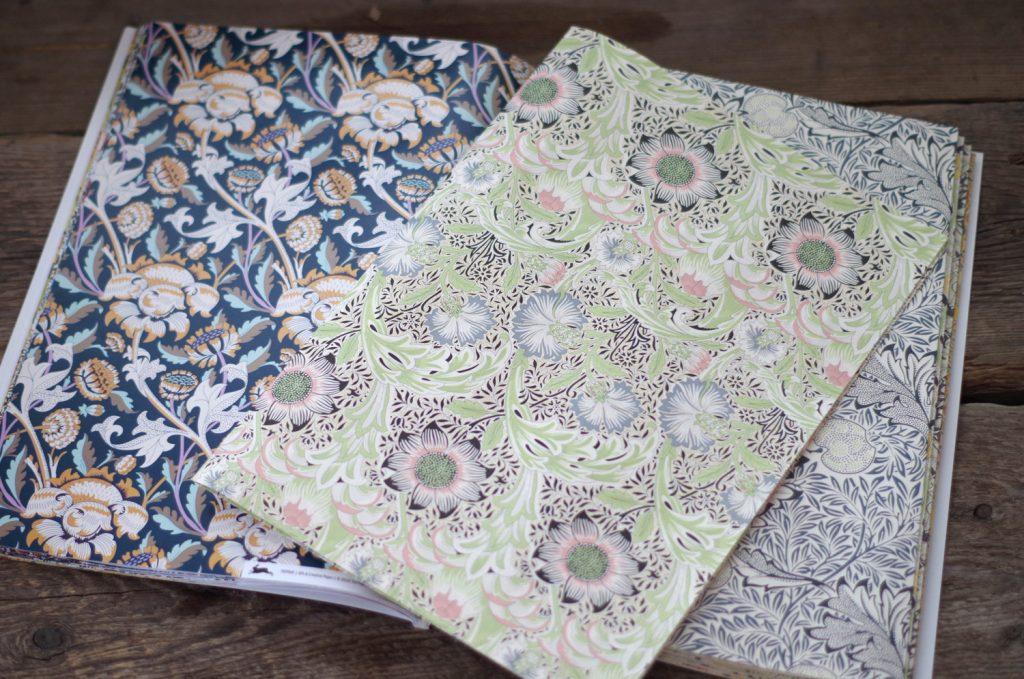 Papper från William Morris till diverse pyssel.