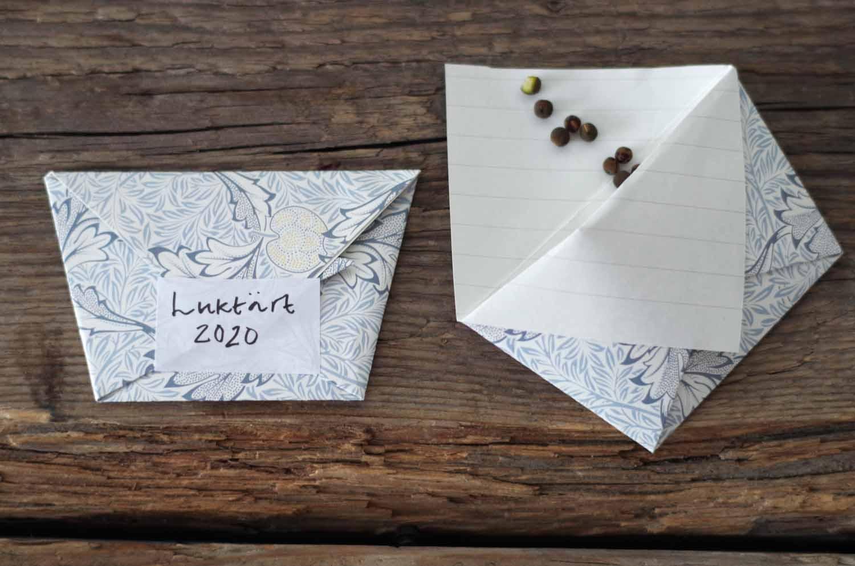 DIY – Vik ett kuvert till fröer – med inspiration från Ellen Key