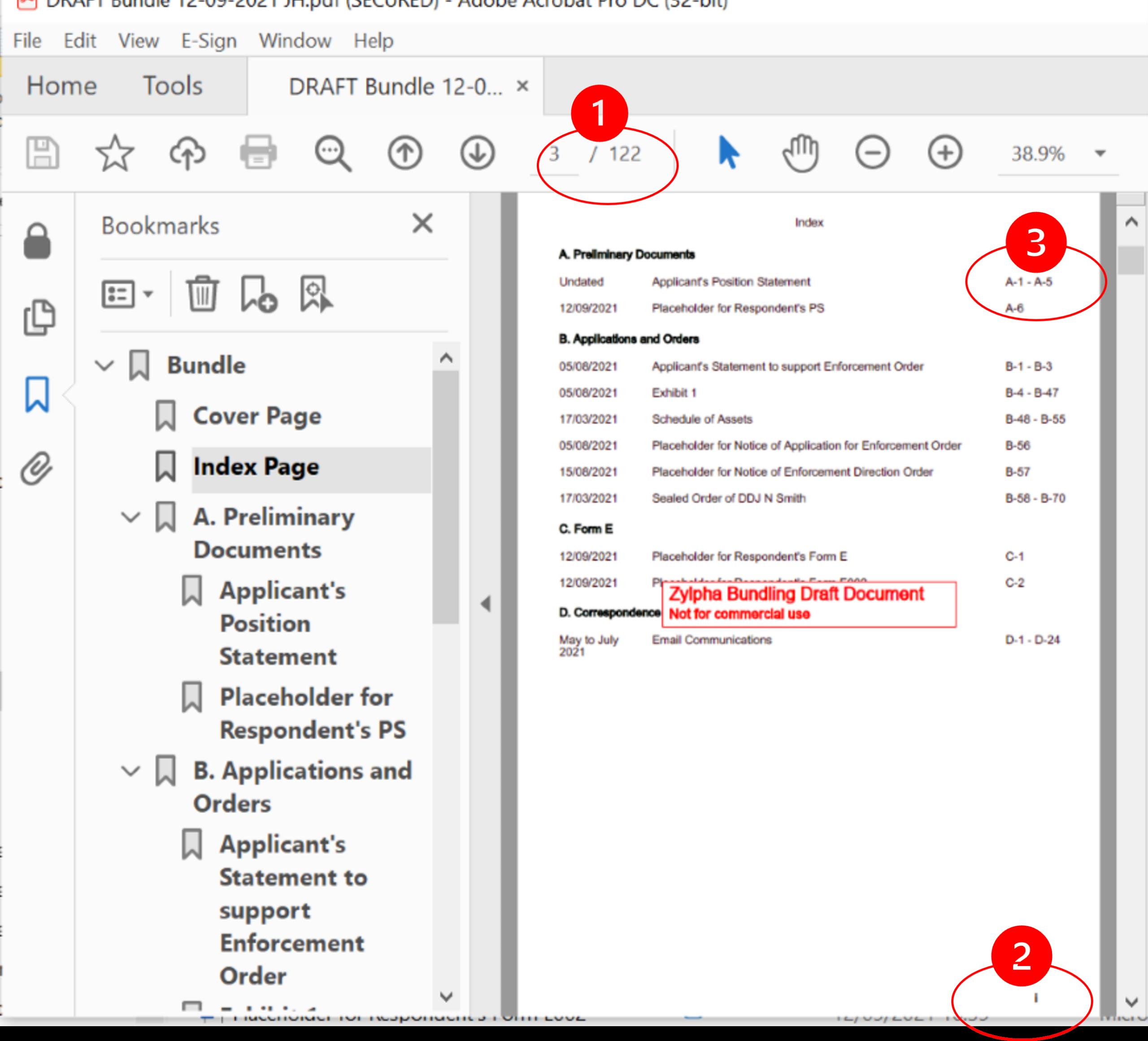 e-bundle pagination