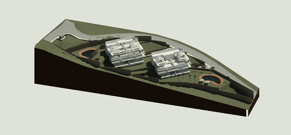 Residential building land for apartments