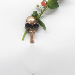 Pirate life – Silver Pin with Bronze Skull