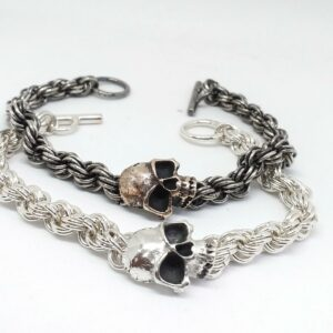 Pirate life – Silver bracelet with skull