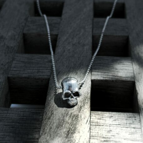 Silverskull with chain