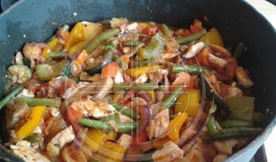 Italienische-Gemüse-Pfanne-mit-Hühnchen