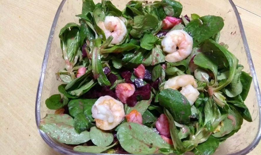 Rote-Beete-Salat mit Garnelen