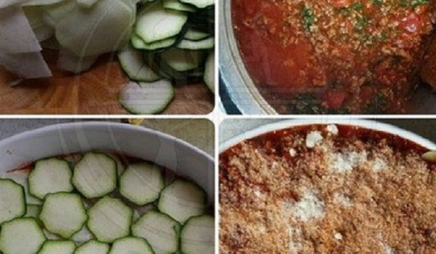Zucchini-Kohlrabi-Lasagne