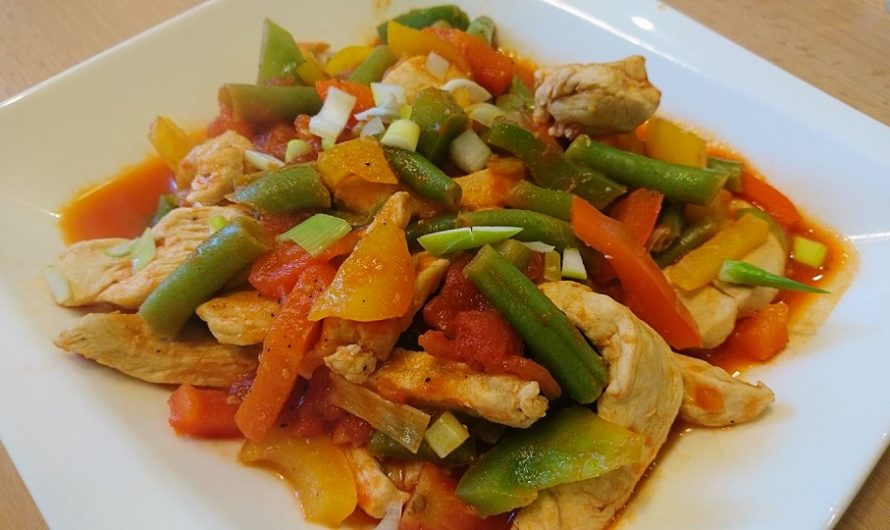 Scharfes Paprika-Hühnchen