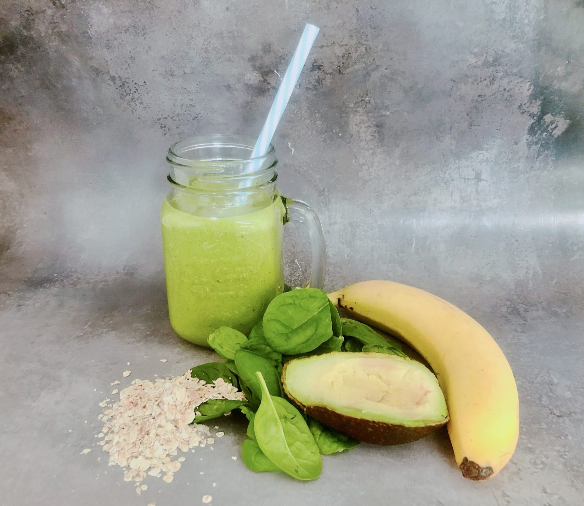 vegansk smoothie med hampeprotein