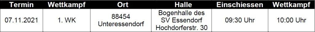 Landesliga Süd Recurve Bogen 2021/2022 1. WK-Tag @ Bogenhalle SV Essendorf | Hochdorf | Baden-Württemberg | Deutschland