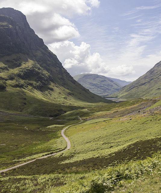 Jagt i Skotland, i flot natur