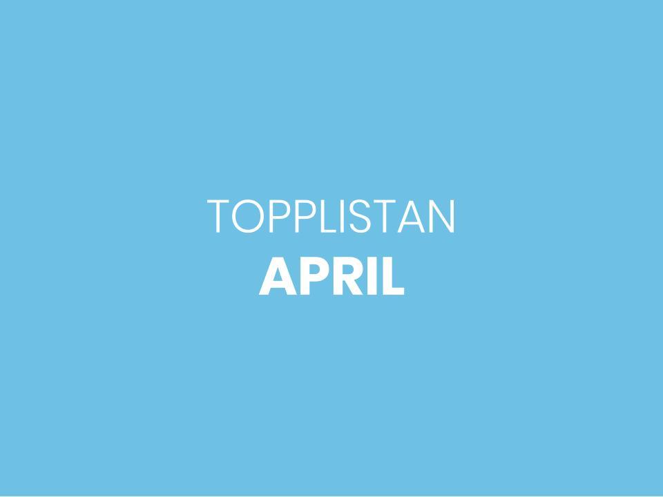 mest sålda böckerna i april