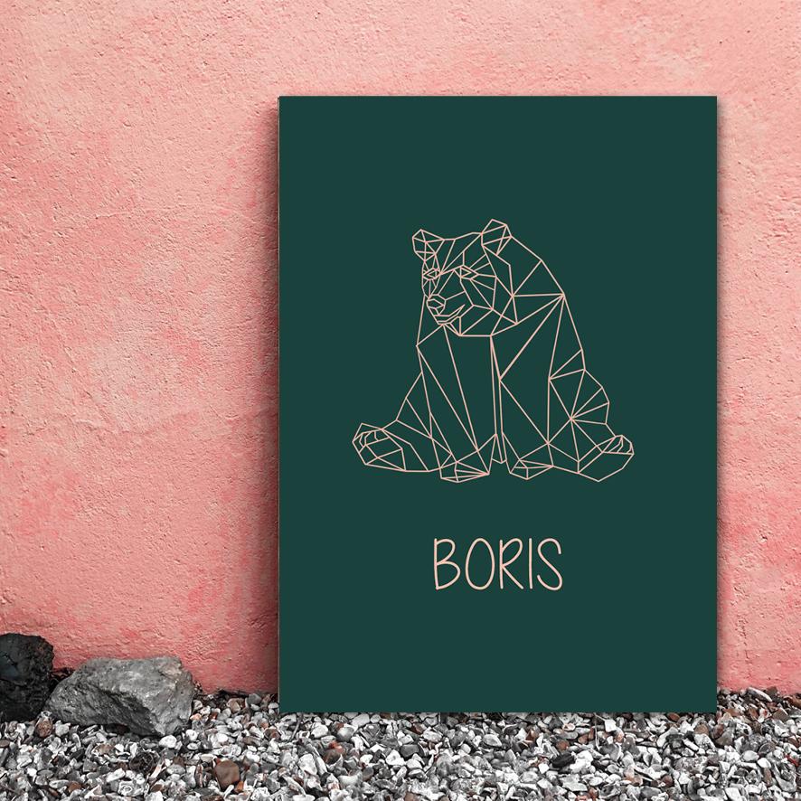 collectiekaartje geboortekaartje beer