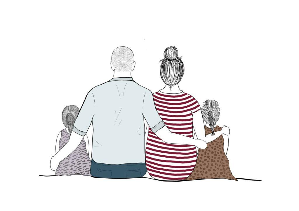 Familieportret illustratie