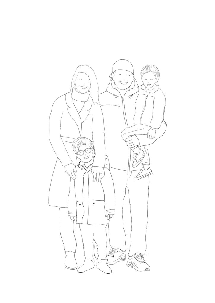 illustratie zwart wit