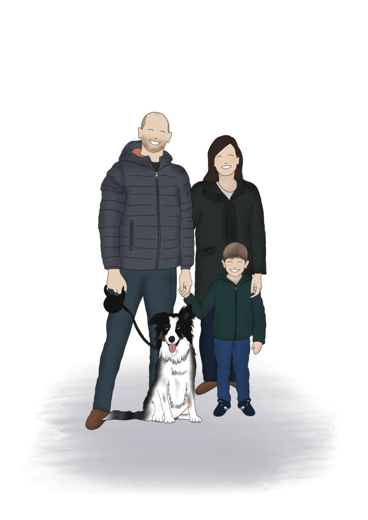 illustratie familieportret